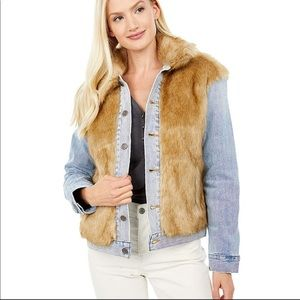 Levi's Premium Oversized Fur Trucker Jean Jacket